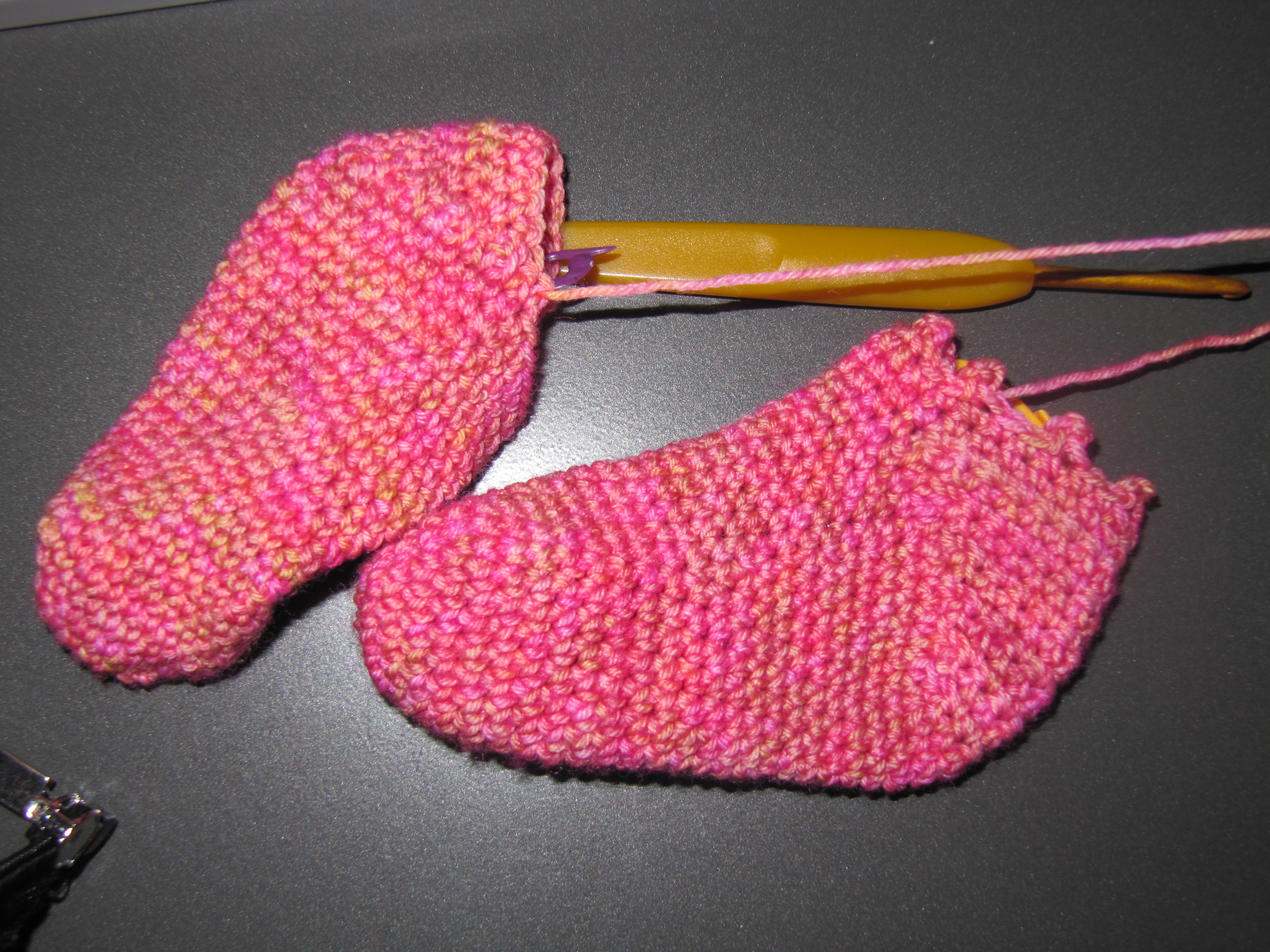 Wip Work In Progress Wednesday Crocheted Baby Socks With Holiday