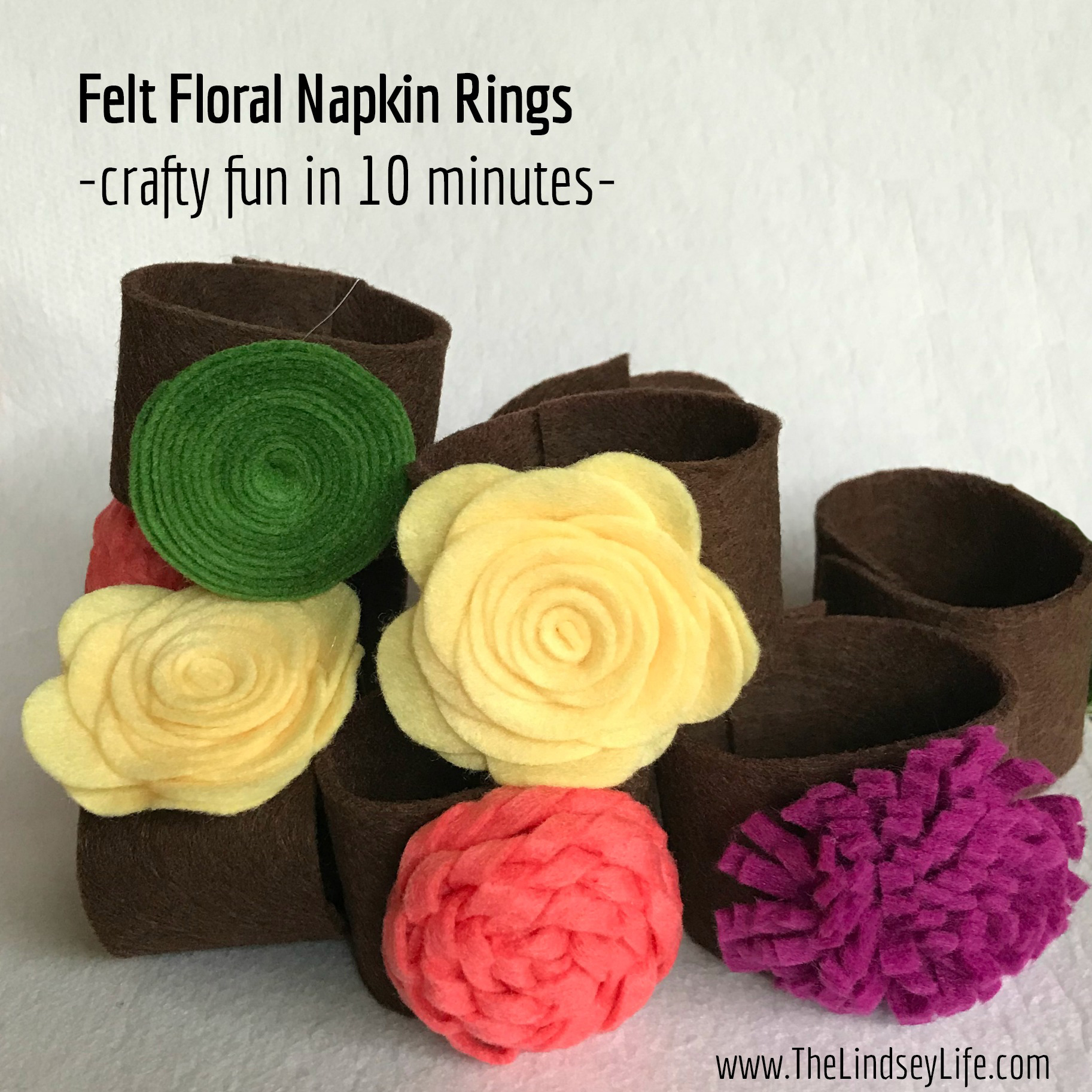 Free Craft Guide: Felt Floral Napkin Rings