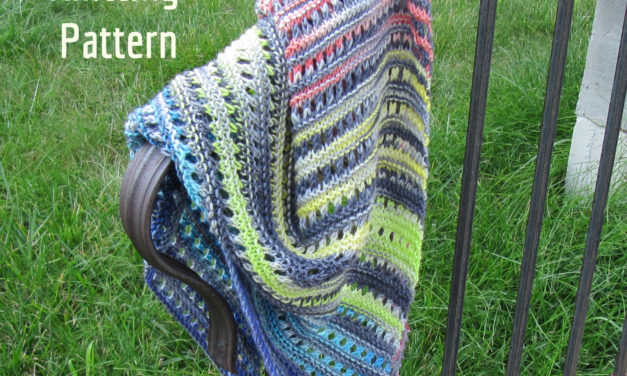 New Knitting Pattern: Judy's Rainbow Scarf