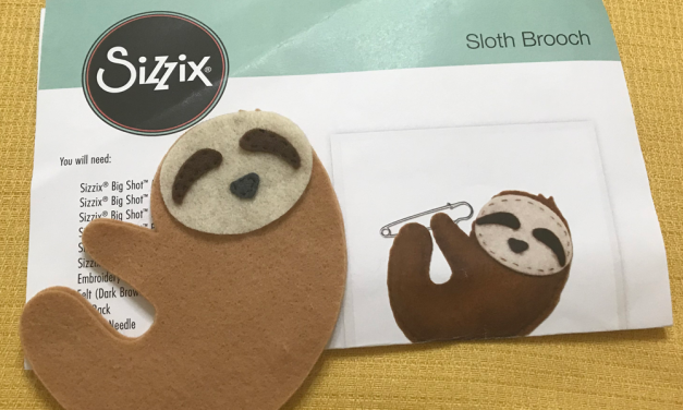 Sizzix Sloth – A felt sewing project