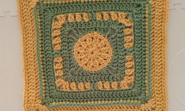 Happy Days Afghan Square: Free Crochet Pattern
