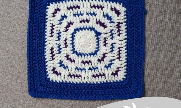 Winter Wonders Afghan Square: Free Crochet Pattern